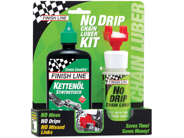Finish Line No Drip Chain Luber Combo Wet Lube wax lubricant, 120 ml